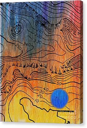 Bathymetry Canvas Print by R Kyllo