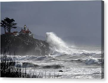 Battery Point Storm Canvas Print by Betty Depee