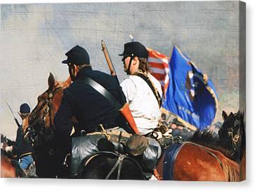 Battle Of Franklin - 2 Canvas Print by Kae Cheatham