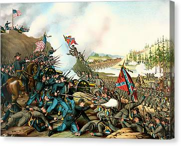 Battle Of Franklin Tennessee 1864 Canvas Print by Mountain Dreams