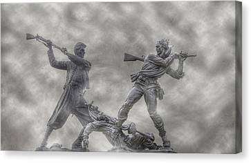 Battle Of Gettysburg 150 Blue And The Gray Canvas Print by Randy Steele