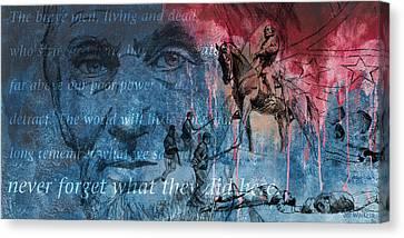 Battle Of Gettysburg Tribute Day Three Canvas Print by Joe Winkler