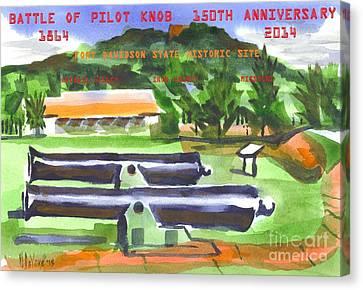 Battle Of Pilot Knob Canvas Print by Kip DeVore