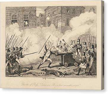 Battle Of Ross Canvas Print by British Library