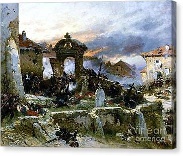 Battle Of Saint Privat Cemetary Canvas Print by Pg Reproductions