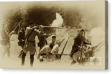 Battle Of Wyoming Canvas Print by Jim Cook