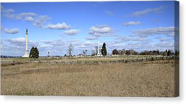 Battlefield At Gettysburg National Military Park Canvas Print by Brendan Reals