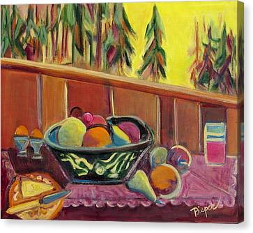 Bavarian Breakfast With Strawberry Milk Canvas Print by Betty Pieper