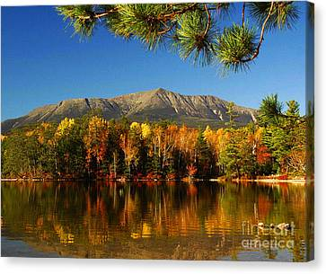 Baxter Fall Reflections  Canvas Print by Alana Ranney