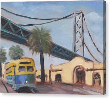 Bay Bridge Canvas Print by James Lopez
