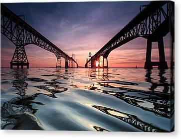 Bay Bridge Reflections Canvas Print by Jennifer Casey