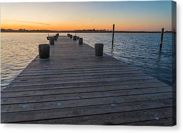Bay Day Canvas Print by Kristopher Schoenleber