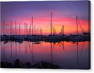 Bayfield Wisconsin Magical Morning Sunrise Canvas Print by Wayne Moran