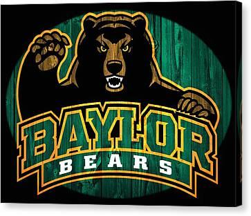 Baylor Bears Barn Door Canvas Print by Dan Sproul