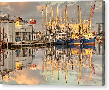 Bayou La Batre' Al Shrimp Boat Reflections 39 Canvas Print by Jay Blackburn