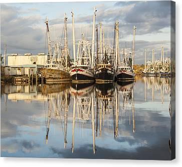 Bayou Labatre' Shrimp Boat Reflections 22 Canvas Print by Jay Blackburn