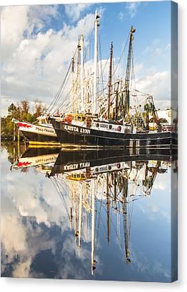 Bayou Labatre' Shrimp Boat Reflections 35 Canvas Print by Jay Blackburn