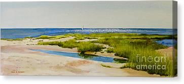 Bayside Canvas Print by Karol Wyckoff