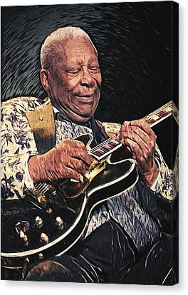 B.b. King II Canvas Print by Taylan Soyturk