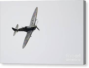 Bbmf Spitfire Canvas Print by J Biggadike