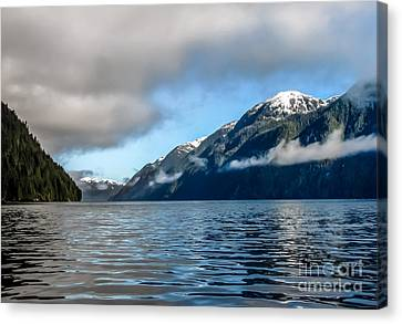 Bc Inside Passage Canvas Print by Robert Bales
