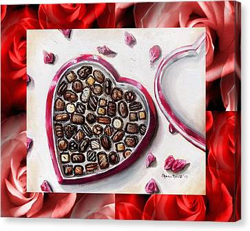 Be My Valentine Canvas Print by Shana Rowe Jackson