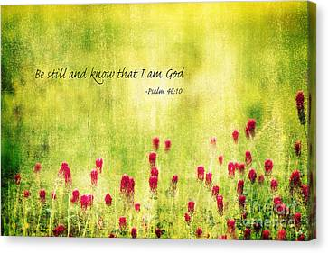 Be Still And Know That I Am God Canvas Print by Scott Pellegrin