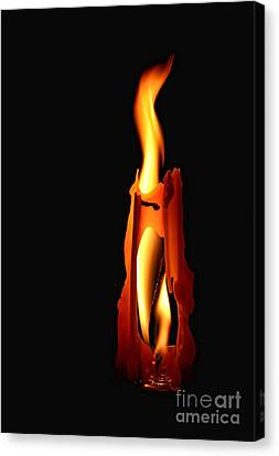 Be The Flame Canvas Print by Peggy Hughes