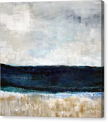 Beach- Abstract Painting Canvas Print by Linda Woods