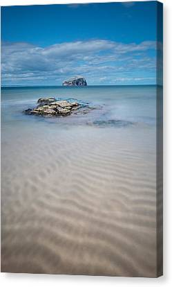 Beach At Bass Rock Canvas Print by Keith Thorburn LRPS