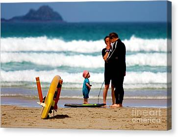 Beach Baby Canvas Print by Terri Waters