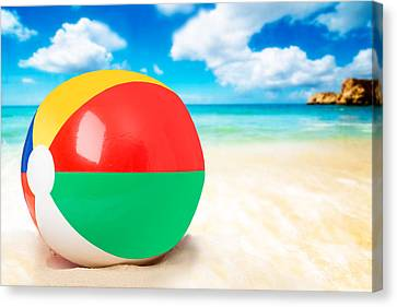 Beach Ball Canvas Print by Amanda And Christopher Elwell