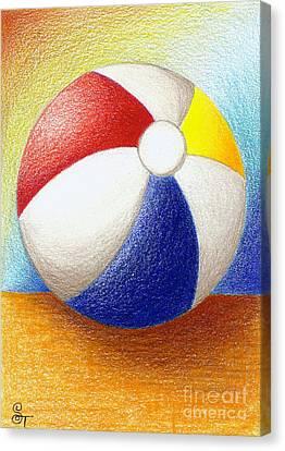 Beach Ball Canvas Print by Stephanie Troxell