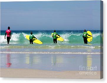 Beach Boys Go Surfing Canvas Print by Terri Waters