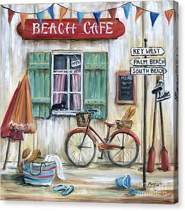 Beach Cafe Canvas Print by Marilyn Dunlap