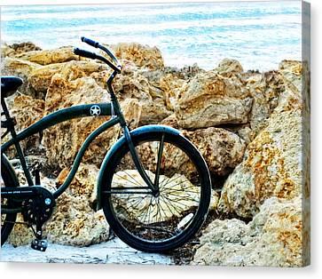 Beach Cruiser - Bicycle Art By Sharon Cummings Canvas Print by Sharon Cummings