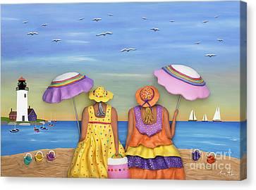 Beach Date Canvas Print by Anne Klar