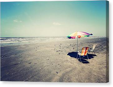 Beach Day Canvas Print by Trish Mistric