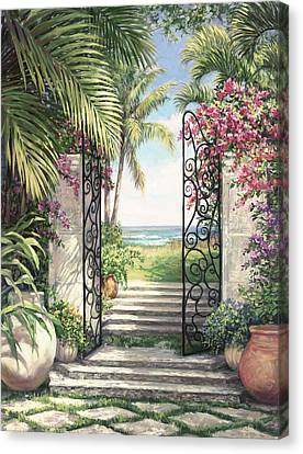 Beach Escape Canvas Print by Laurie Hein