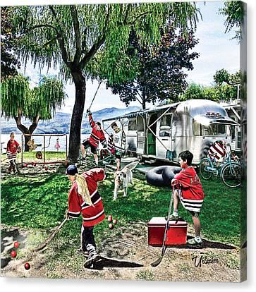 Beach Hockey  Canvas Print by Elizabeth Urlacher