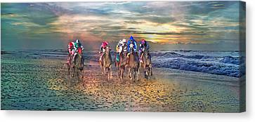 Beach Horses II Canvas Print by Betsy Knapp