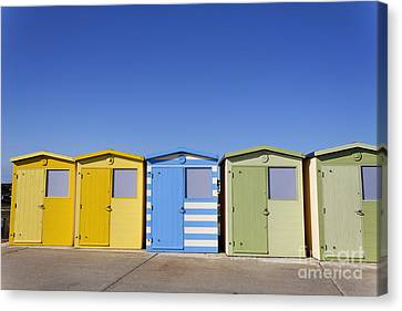 Beach Huts At Seaford In East Sussex In England Canvas Print by Robert Preston