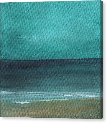Beach Morning- Abstract Landscape Canvas Print by Linda Woods