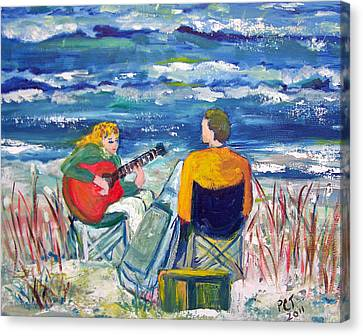 Beach Music Canvas Print by Patricia Taylor