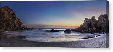 Beach Oasis Canvas Print by Jeremy Jensen