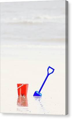 Beach Pail And Shovel, Humberside Canvas Print by John Short