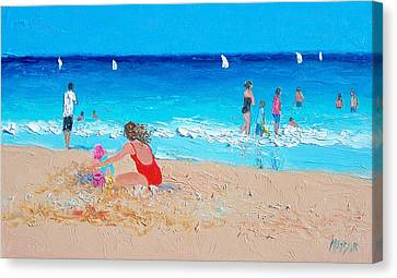 Beach Painting 'summer Holiday'  Canvas Print by Jan Matson