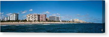 Beach, Pompano Beach, Florida, Usa Canvas Print by Panoramic Images
