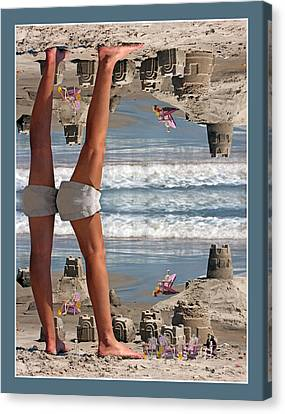Beach Scene Canvas Print by Betsy C Knapp