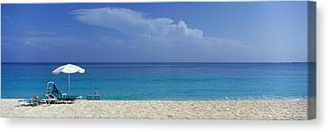 Beach Scene, Nassau, Bahamas Canvas Print by Panoramic Images